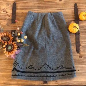 Vintage | Gray wool skirt